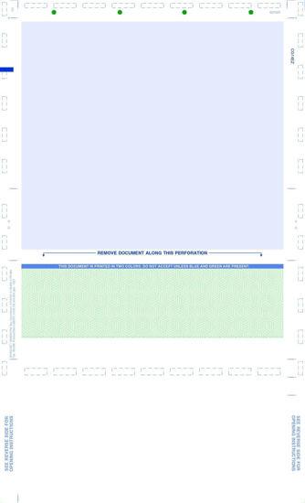 PS Green EZ Fold Legal Laser Check - CG14EZ
